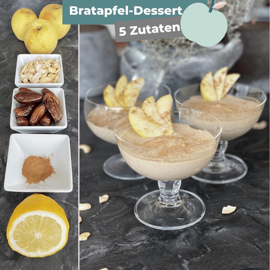 Bratapfel Dessert im Glas